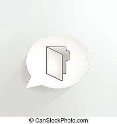 Folder speech bubble