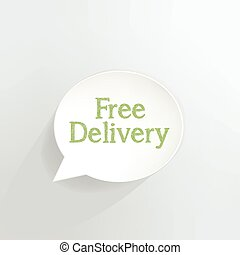 Free Delivery - Free delivery speech bubble.