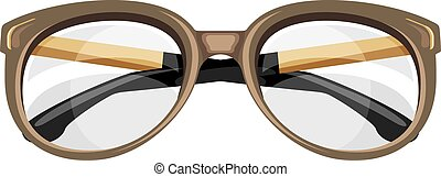 Reading glasses isolated on the white