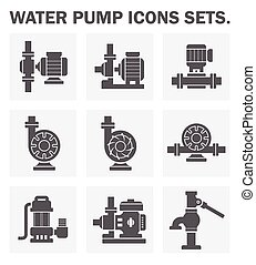 pump icon - Water pump icons sets.
