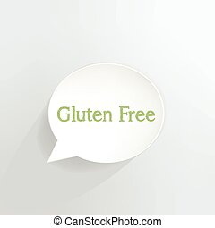 Gluten Free - Gluten free speech bubble.