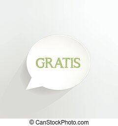 Gratis speech bubble