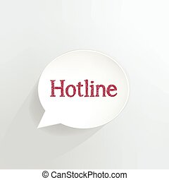 Hotline speech bubble