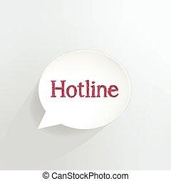 Hotline speech bubble.