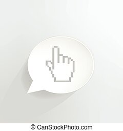 Hyperlink speech bubble