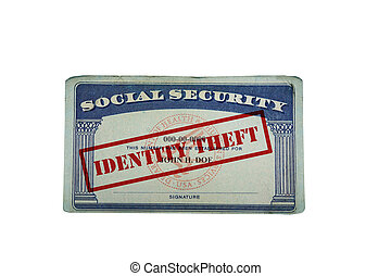 Identity Theft Social Security card - social security card...