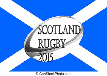 Scotland rugby flag