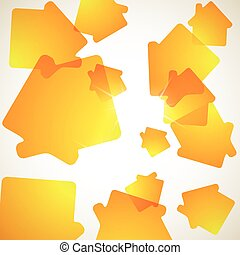 abstract background house