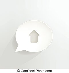Upload arrow speech bubble