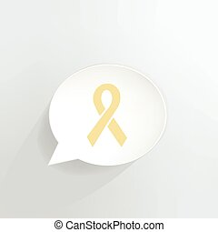 Yellow Ribbon - Yellow ribbon speech bubble.