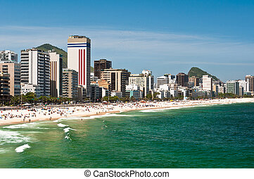 Sunny Day in Ipanema Beach, Rio de Janeiro, Brazil