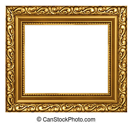 Decorated gold plated frame - Decorated classic style gold...