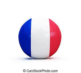futbol, Pelota, francés, bandera,