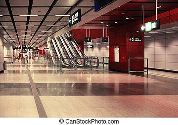 Subway station in Hong Kong - Hong Kong, China - March 28,...