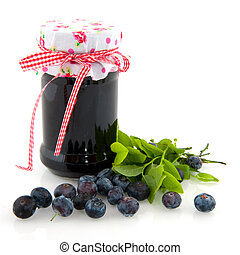 Home made jam - Home made fruit jam from tasty blue berriess...