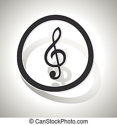 Curved music sign icon