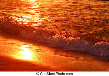 Evening waves of the Baltic Sea. - The waves of the Baltic...