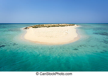 Egypt or Carribbean - In the picture an atoll with fine...