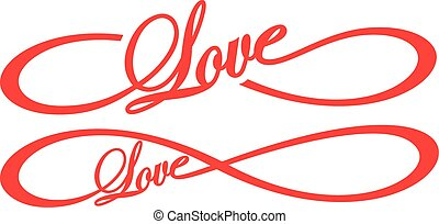 Infinity Love  - great illustration of infinity love word