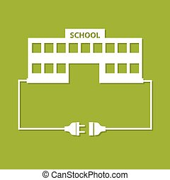school_kontakteps - Abstract background with wire plug,...