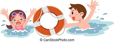 Man to rescue the girl drown