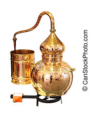 Alembic Copper - Distillation apparatus employed for the...