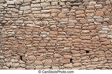 Stone Wall at Hovenweep - Intricate rock wall background...