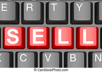 Sell button on modern computer keyboard