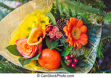 Christmas flower bouquet