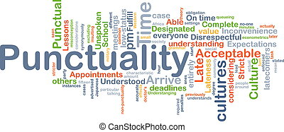 Punctuality background concept - Background concept...