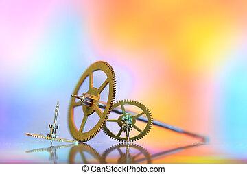 Tiny watch gears