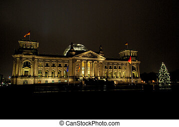 Berlin Reichstag building christmas 01