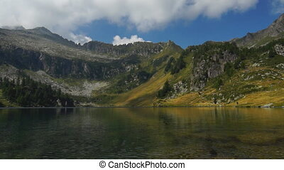 Campo lake - Panoramic view of Italian lake in Dolomites