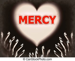 Begging for mercy God divine love - Hands in the dark...