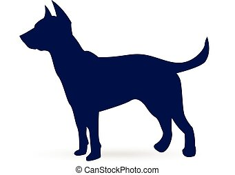 Dog (German shepherd) silhouette - Dog (german shepherd)...
