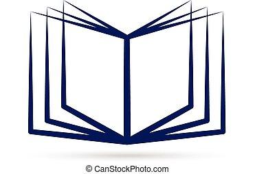 Open blue book logo