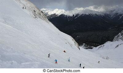 Panorama peaks of Caucasus Mountains in Rosa Khutor Alpine Resort