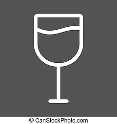 Goblet, glass, wine icon vector image. Can also be used for...