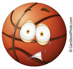 Nervous emotion basket ball  illustration