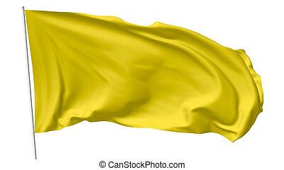 Yellow flag on flagpole