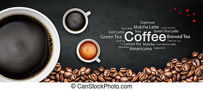 coffee backgrond - coffee illustration abstract and...
