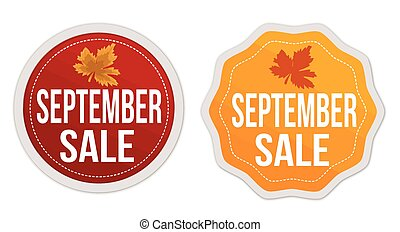 September sale stickers set