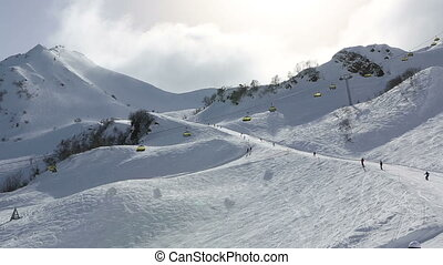 Ski slopes in Rosa Khutor Alpine Resort - Ski slopes in the...