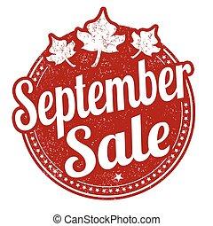 September sale stamp - September sale grunge rubber stamp on...
