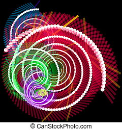 Fiber optics data spiral - Spiral of glowing communications...