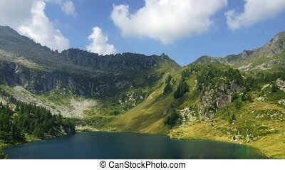 Campo lake - Panoramic time-lapse of Italian lake in...