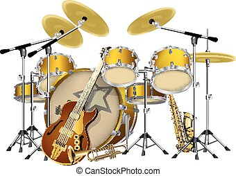musical instruments jazz group