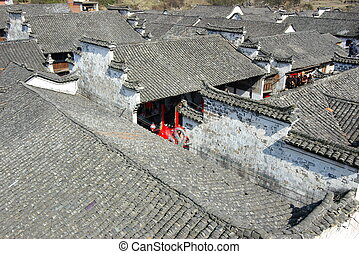 Traditional Chinese ancient roof - Roof of traditional...