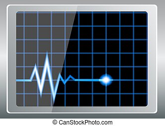 cardiogram on the screen - vector illustration-cardiogram on...