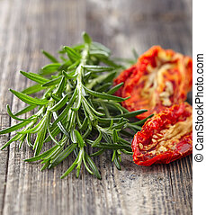 Rosemary with tomato